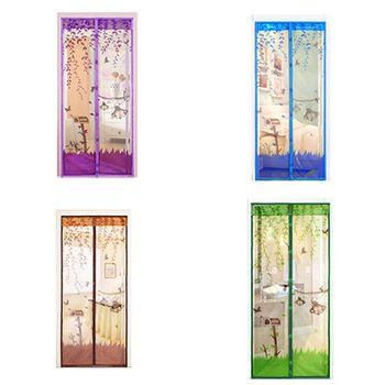 1 шт., магнитная москитная сетка на двери и окна, 90х210 см 100х210 см, 4 цвета