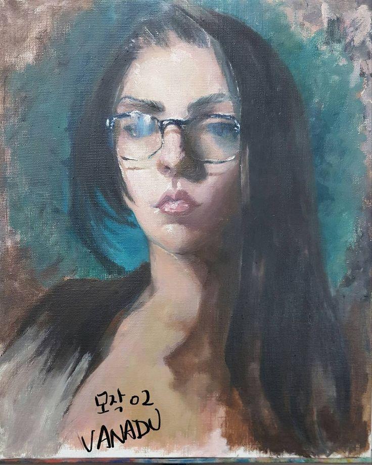 """좋아요 17개, 댓글 3개 - Instagram의 RyungA Kim (VANADU)(@vanavanadu)님: """"#art #artwork #fineart #VANADU #study  #oilpainting #illustrator #instaart #바나듀  모작  imitation oil…"""""""