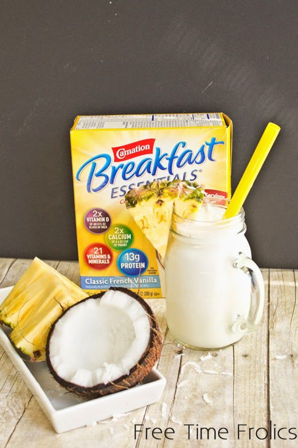 Pina Colada Smoothie with Carnation Breakfast Essentials