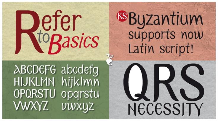 KS Byzantium supports latin script