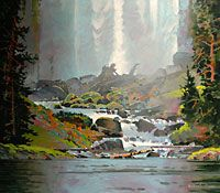 robert genn paintings | Chatterbox falls I, acrylic painting by Robert Genn, 30 x 34 inches