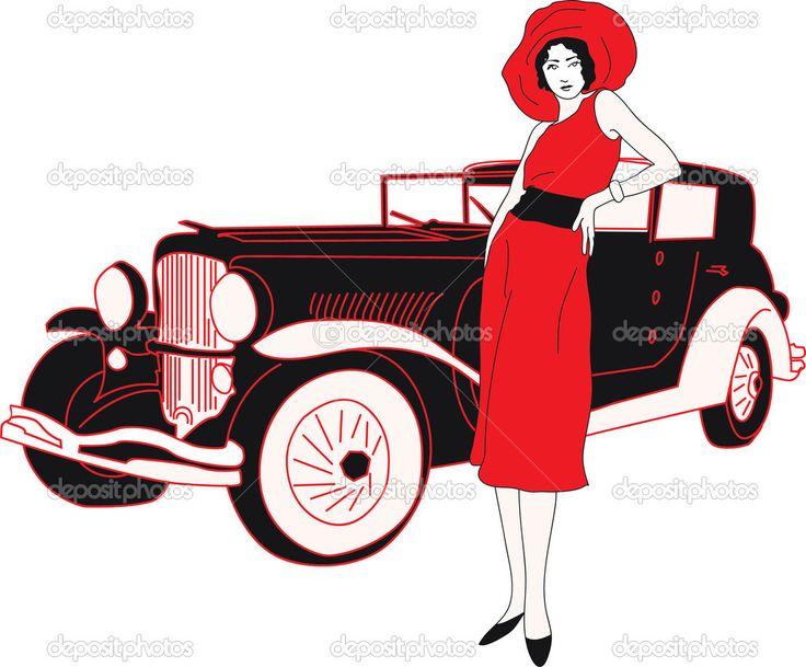 Мода семидесятых силуэт женщины — стоковая иллюстрация #42841827