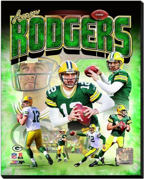 Aaron Rodgers Packers - 16x20 HD Photo on Gallery Wrapped Stretched Canvas