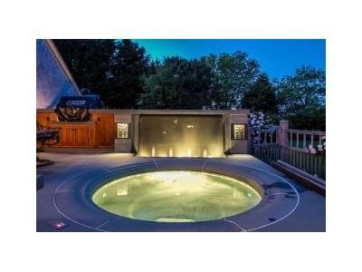 Inviting backyard hot tub, Jamestown, RI