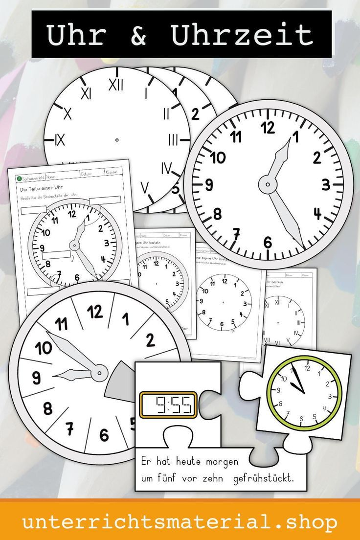 Uhrzeit lernen Grundschule   Uhrzeit lernen, Grundschule, Die uhr ...