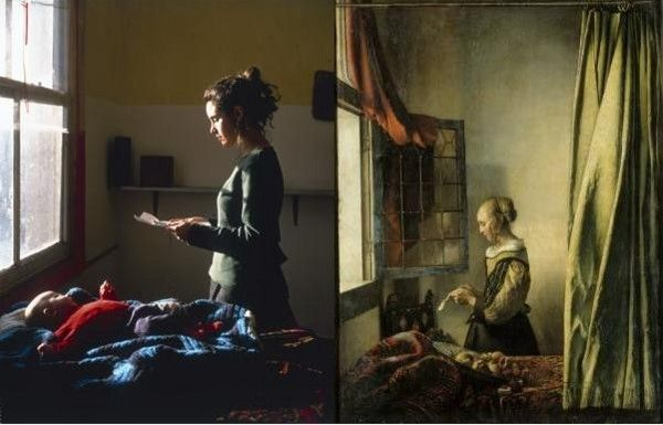 Tom Hunter 'Woman Reading Possession Order' & Jan Vermeer 'Girl reading a Letter at an Open Window'