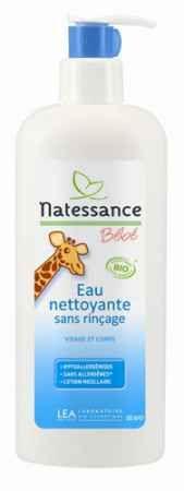 Woda micelarna do mycia niemowląt i dzieci Natessance bébé. Sprawia, że skóra dziecka jest jedwabista w dotyku i pięknie pachnie kwiatową wodą lawendową. Doskonała alternatywna dla chemicznych nawilżanych chusteczek, sprawdzi się świetnie w podróży i na spacerze.