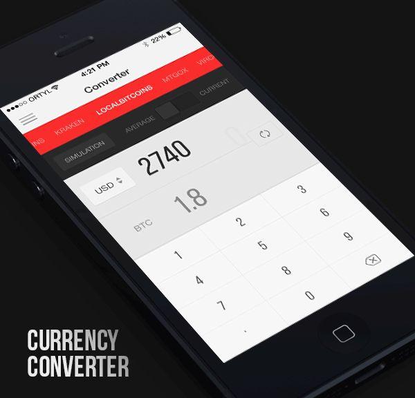 Elite Bitcoin - iPhone App on App Design Served