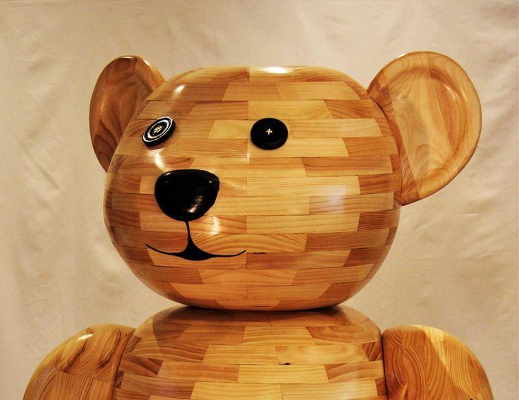 Teddy Bear sculpture (head) by John Abery Sculptor