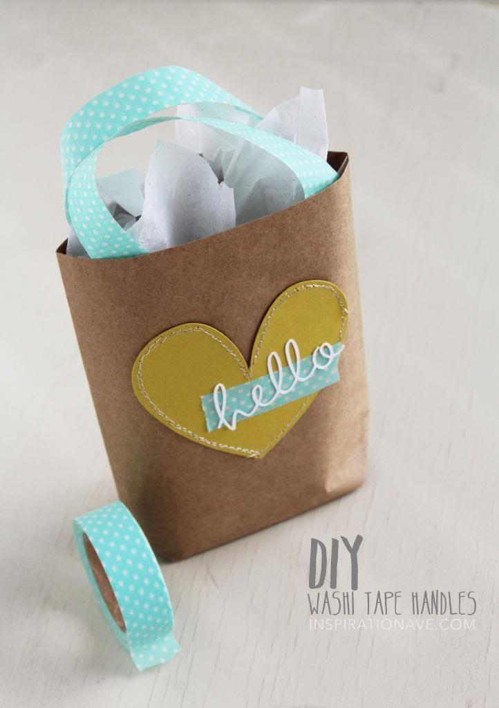 Washi Tape handles on gift bag