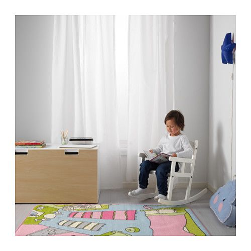 SUNDVIK Childrens rocking-chair IKEA Rocking helps develop a child's sense of balance and the brain to sort sensory impressions.