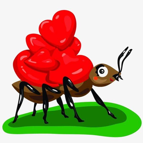 Auf Dem Rucken Der Comic Ameisen Der Liebe Ameisen Ameisenigel