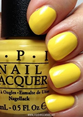 OPI ● I Just Can't Cope-A-Cabana. Love this cheerful, bright yellow for spring!!