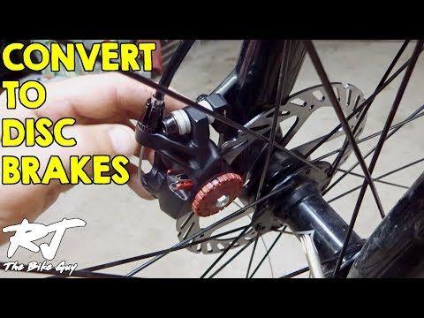 3 How To Convert To Disc Brakes From V Brakes On Mountain Bike Youtube Brakes Bike Converter