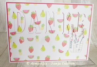 Stempelfix DinA5 Karte, um Danke zu sagen - Stampin Up, Gute-Laune-Korb