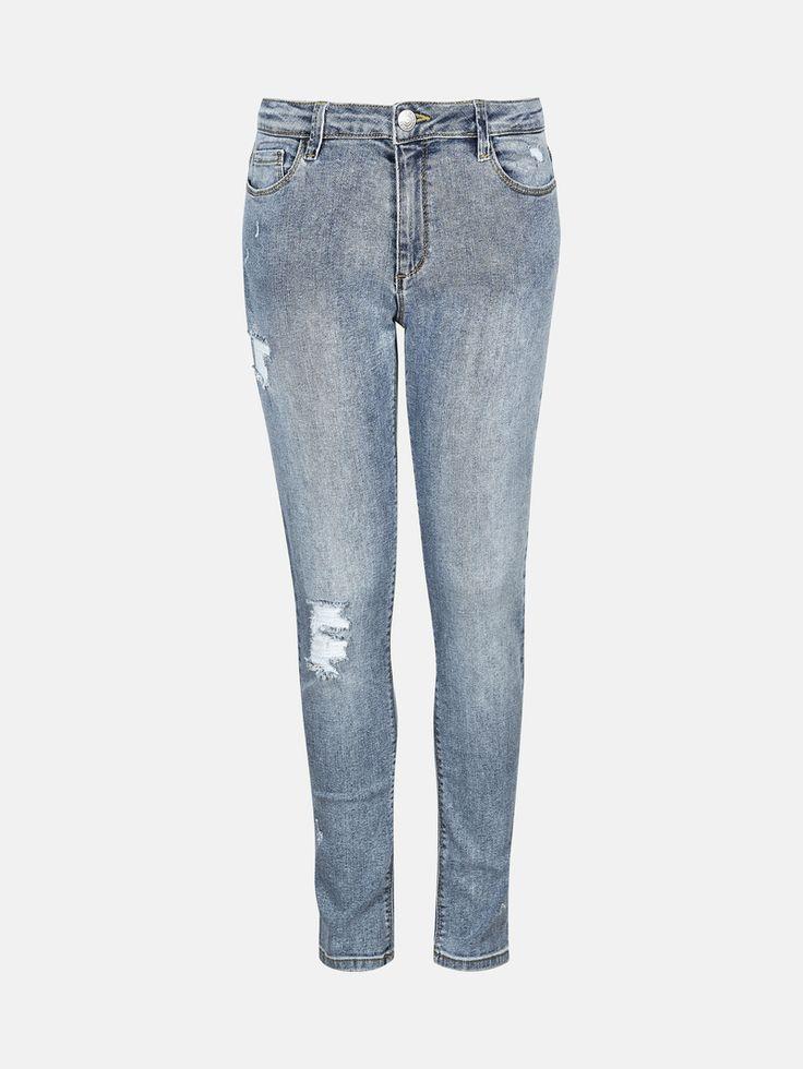 Jeans med smala ben och hög midja. Superstretch, mycket elastiska. Denim