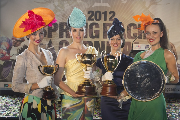 Stunning models with the Melbourne Cup, Caulfield Cup, Cox Plate and Ballarat Cup