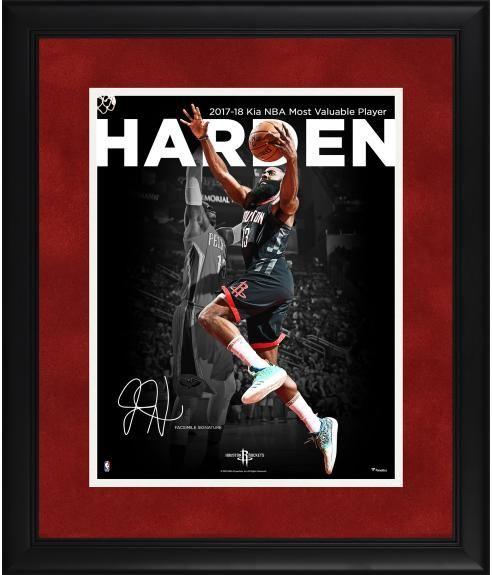 87648573e1946 James Harden Houston Rockets Framed 11