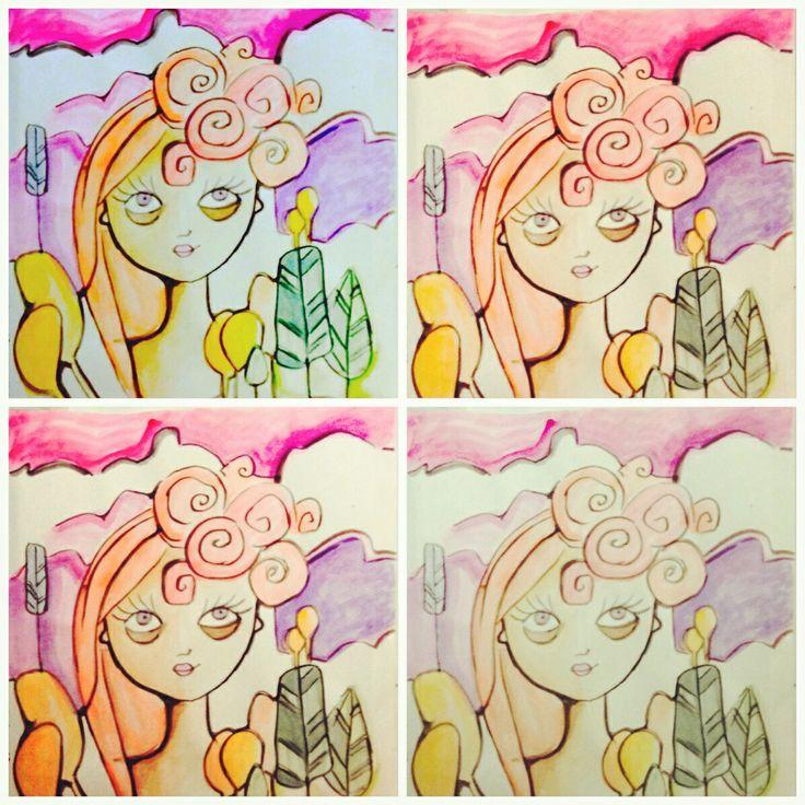 Loli Roberts art - be coloured