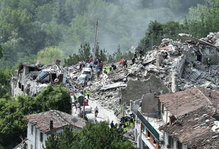 The real science behind the unreal predictions of major earthquakes in 2018 -  By Sarah Kaplan November 21 at 2:12 PM - photo: A view of the Italian town Pescara del Tronto, which was destroyed by an earthquake in August 2016. (Giuseppe Bellini/Getty Images)