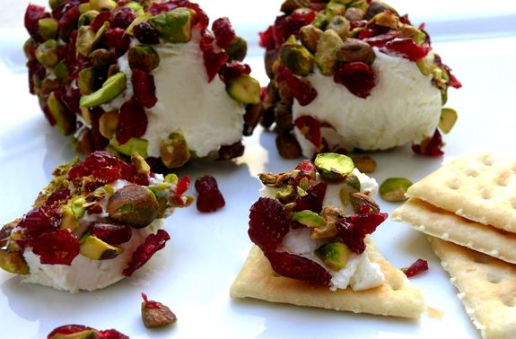 Goat Cheese with Cranberries & Pistachios ~ sometimes the most delicious things are so simple to make