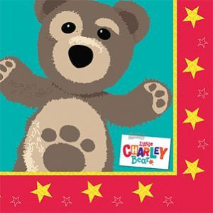 Napkins: Little Charley Bear Party Luncheon Napkins 2ply (16pk)