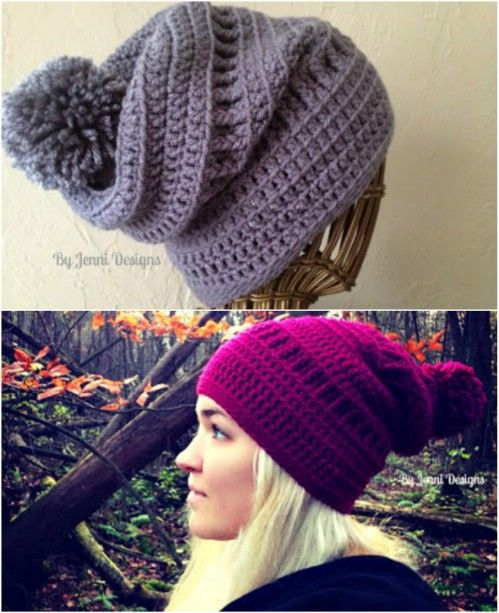 You'll Love These 20 Free Patterns For Crocheted hats For All Ages And Styles!