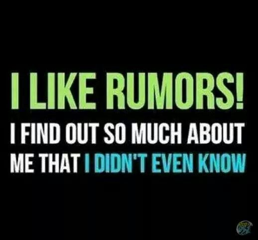 rumors,  the way to self-realization lol