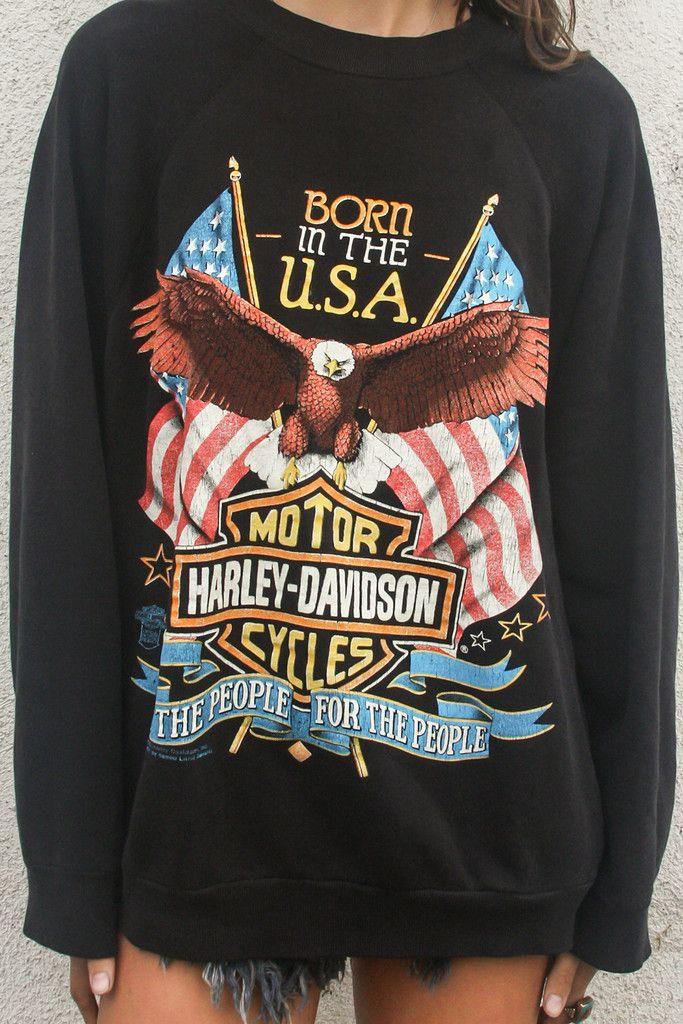1989 Born in the USA Vintage Harley Davidson Sweatshirt