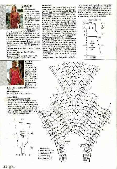 crafts for summer: fashion top for women, free crochet pattern - crafts ideas - crafts for kids