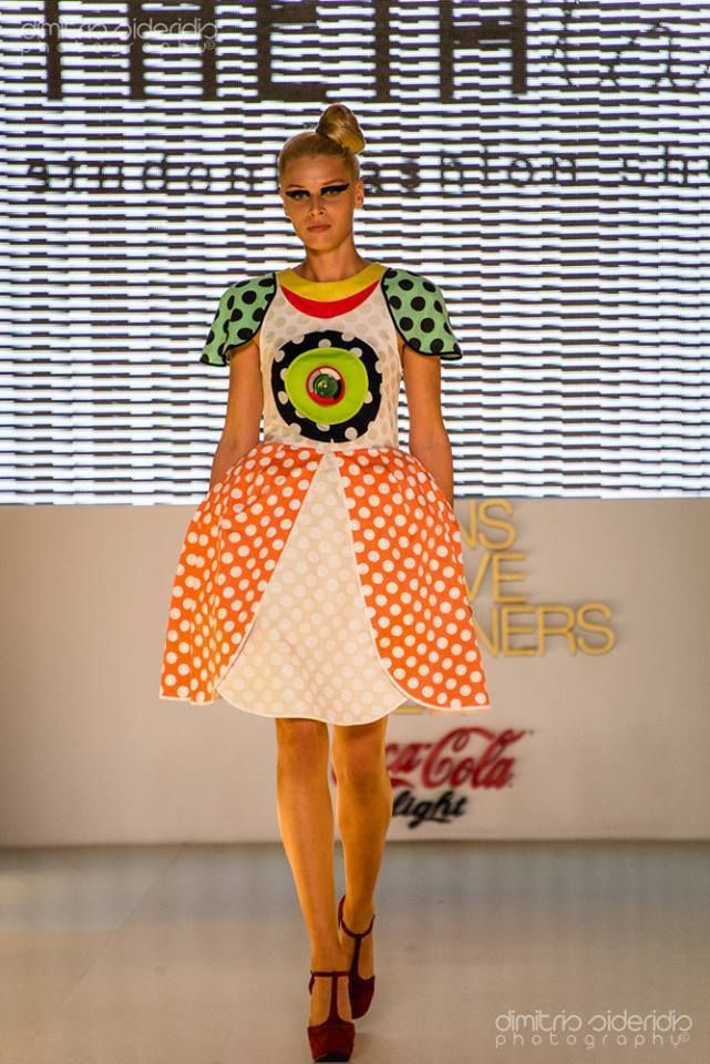 Athens Fashion Week, participating with THEIAlab! Dots Dress @ POP ART Project.