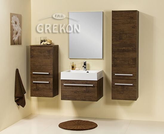 Fokus bathroom furniture - antique wood