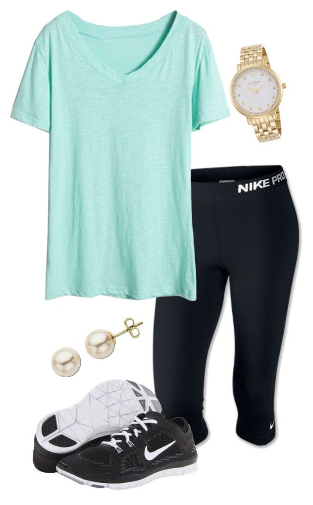 """I've been feeling dizzy since 10 this morning"" by madelyn-abigail ❤ liked on Polyvore featuring NIKE, Lord & Taylor and Kate Spade"