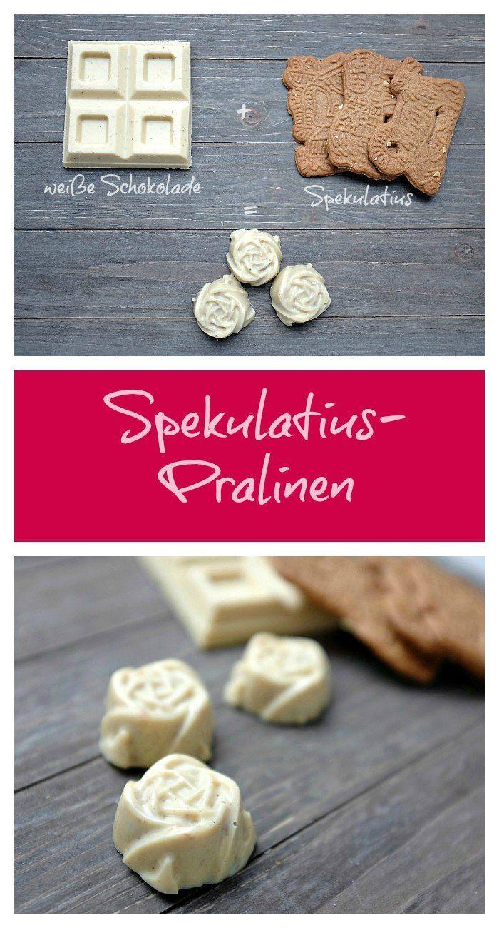 Pralinen aus weißer Schokolade mit Spekulatius