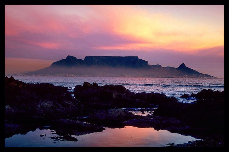 Sunset over Table Mountain, Cape Town_ South Africa