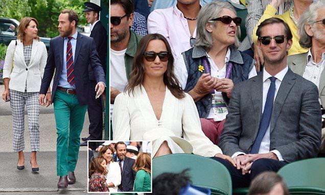 Pippa Middleton makes third visit to Wimbledon