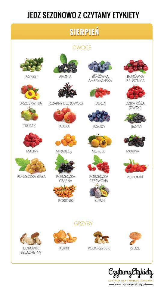 sierpień owoce