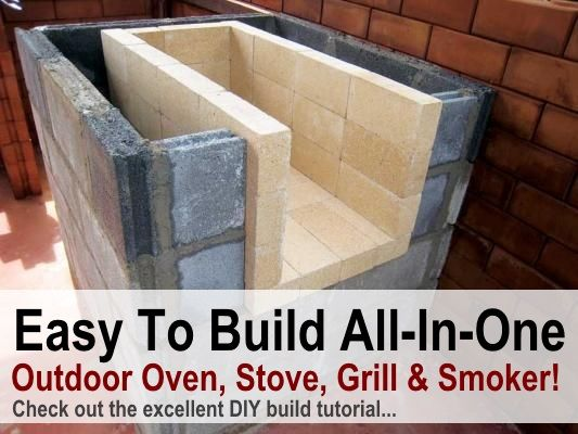 Amazing DIY All In One Outdoor Oven, Stove, Grill & Smoker