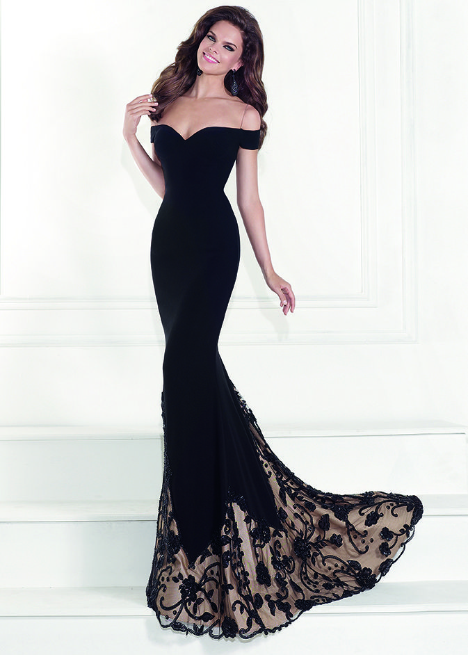 Tarik Ediz 92525 - Orva Black Off The Shoulder Prom Dresses Online