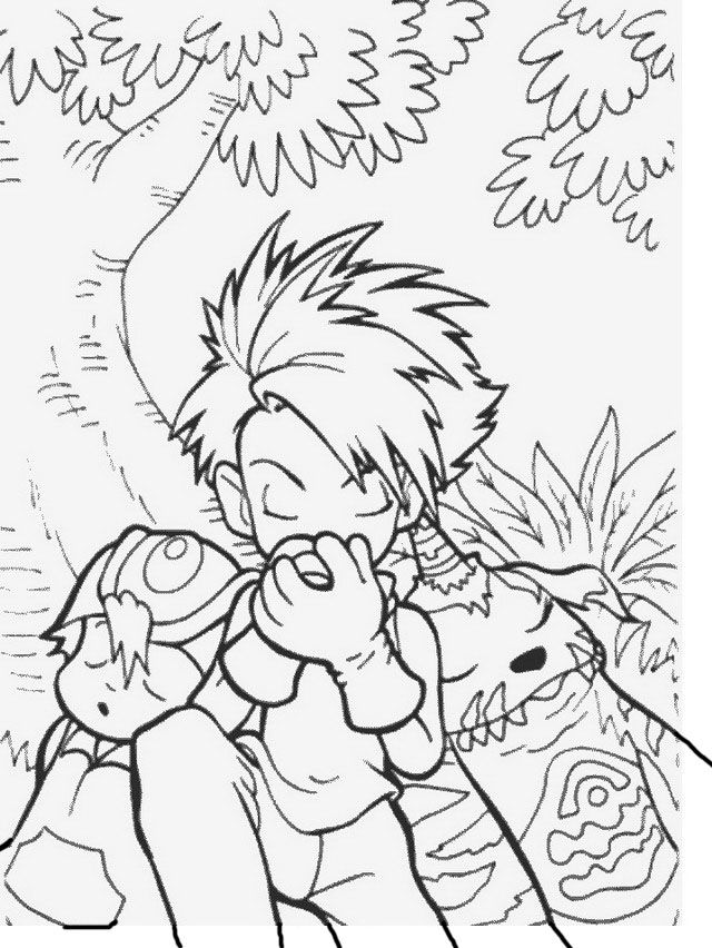 Digimon Tegninger til Farvelægning. Printbare Farvelægning for børn. Tegninger til udskriv og farve nº 54