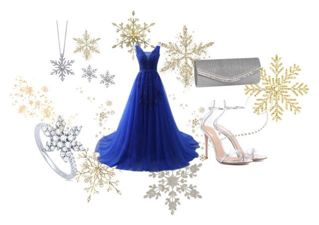 """""""sparkly blue winter prom dress"""" by lalulavanya on Polyvore featuring Gianvito Rossi, J. Furmani, Splendid and BERRICLE"""