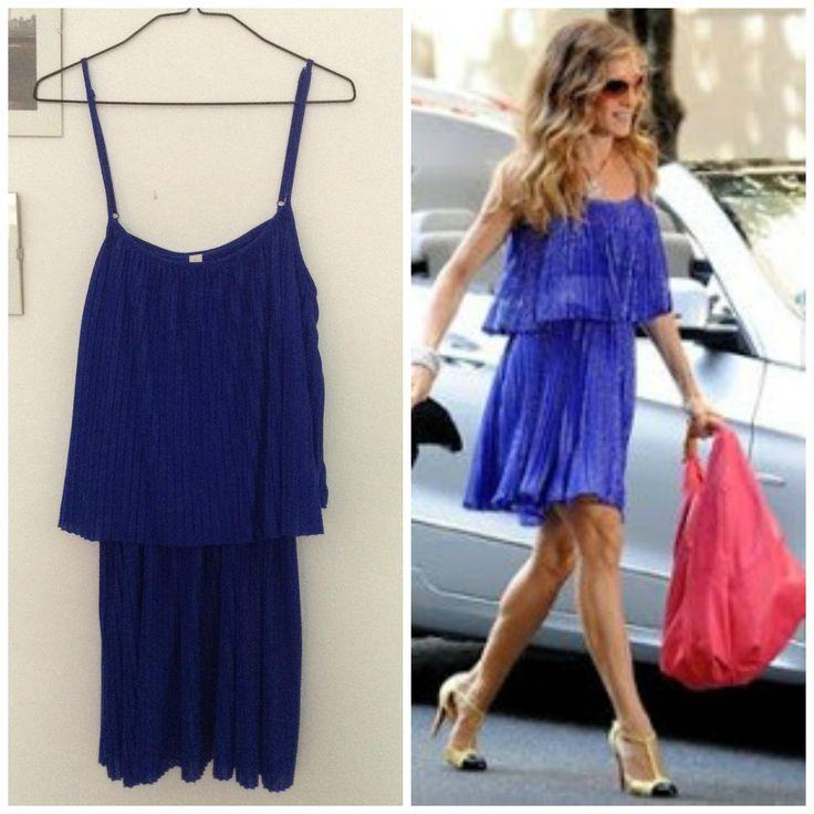 Venta ropa segunda mano http://loszapatosqueseanrojos.bigcartel.com #vestido #carrie #blue #plisado #segundamano #secondhand #dress #blue #loszapatosqueseanrojos