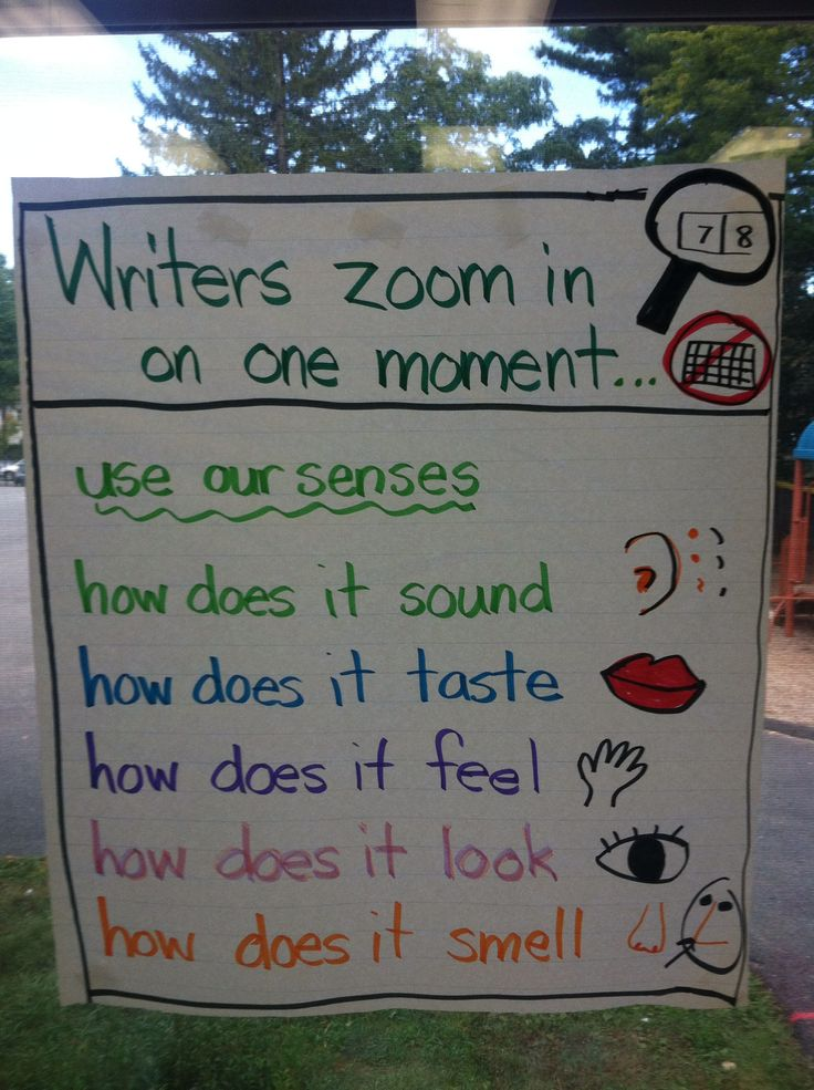 """sensory writing essay Samples illustrating what effective narrative writing might look like at each   writer develops these events with concrete, sensory details (""""they heard music."""