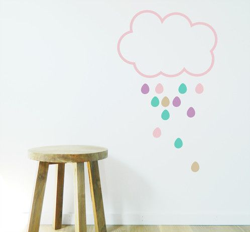 Great to brighten up a rainy day with a rain cloud wall sticker https://www.moonfacestudio.com.au/product-page/rain-cloud-vinyl-wall-sticker-decal