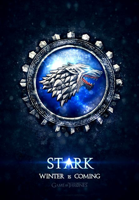 House Stark - 'Game of Thrones' House Banners by Jie Feng