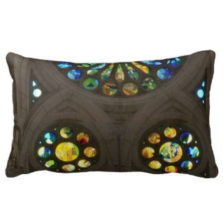 Church Cathedral Christ Wall Stained Glass Deco 99 Throw Pillow