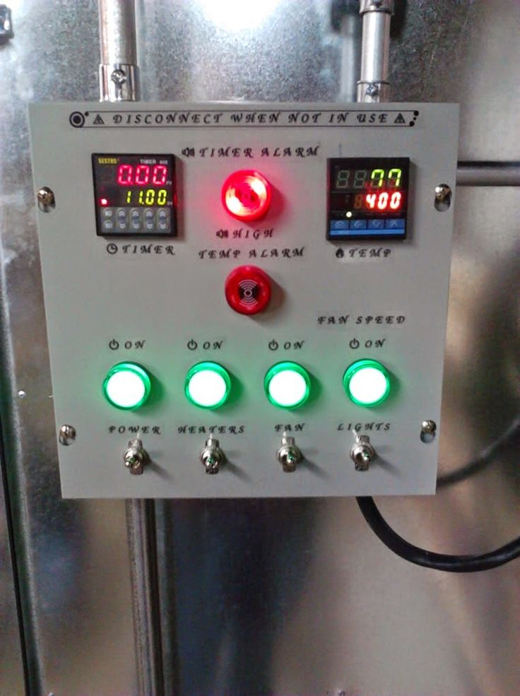 powder coating oven control panel