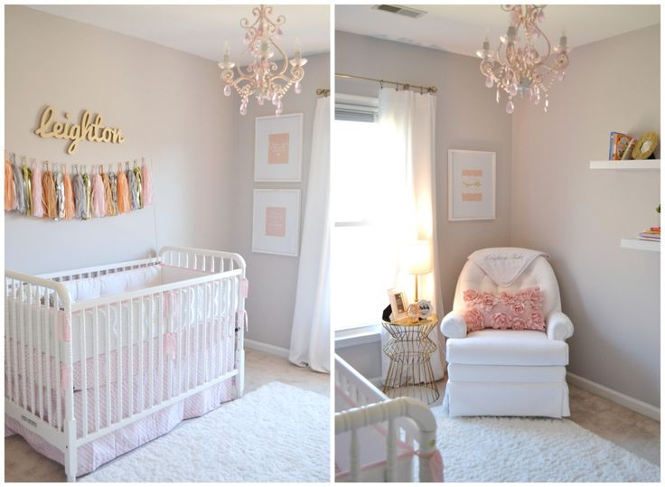 Project Nursery - Pink and Gold Nursery - I like the paint color and gold accents