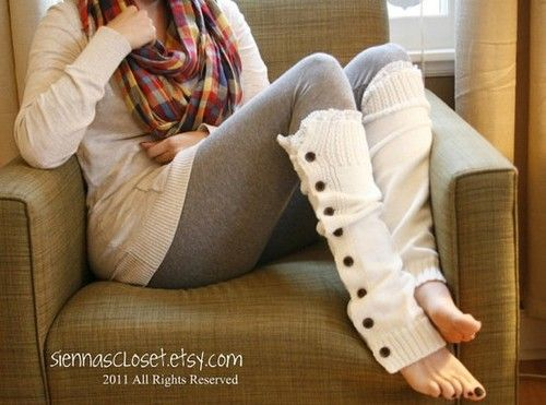 Cute leggings and button stocking socks