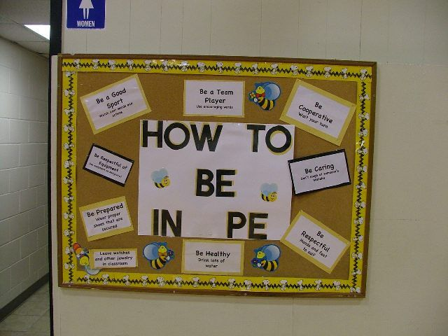 How to Be in PE bulletin board